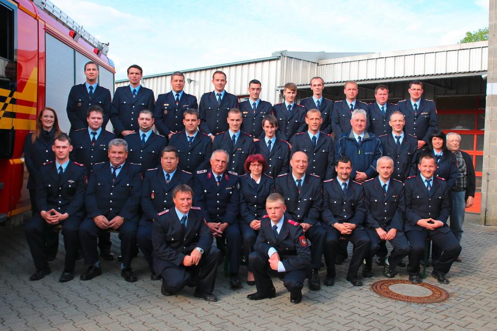 Die Mitglieder der Feuerwehr Roßlau